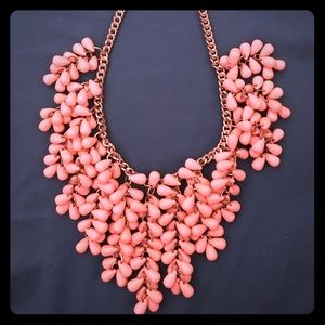 Jewelry - Orange and peach layer necklace with teardrop